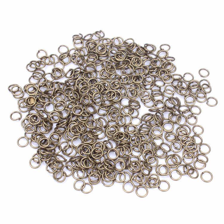 200 pçs/saco atacado bronze/branco/prata/ouro Tom split Rings 5 dois milímetros jóias fazendo Descobertas