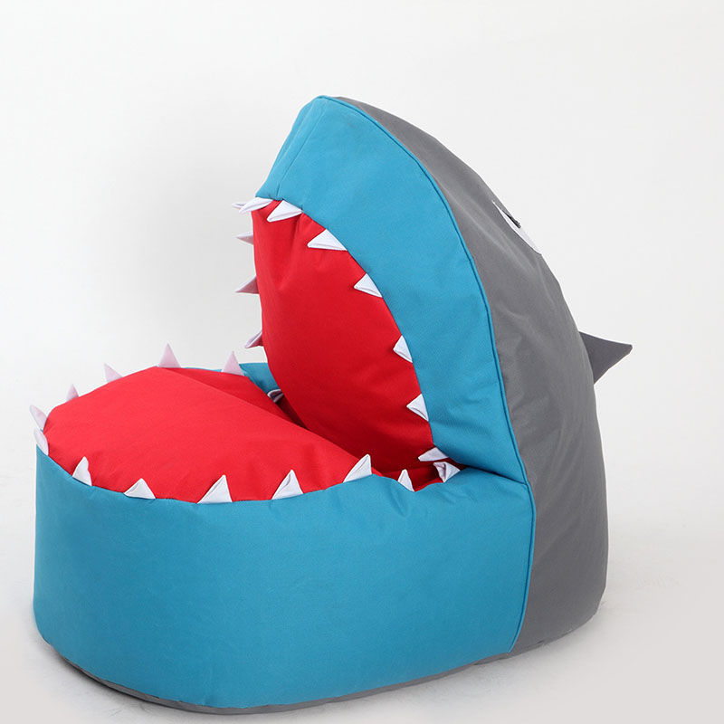 Single creative skeleton child cartoon lazy bean bag sofa leisure lazy sofa shark shaped sofa lazy sofa bean bag with pedal creative single sofa bedroom living room lazy stool tatami