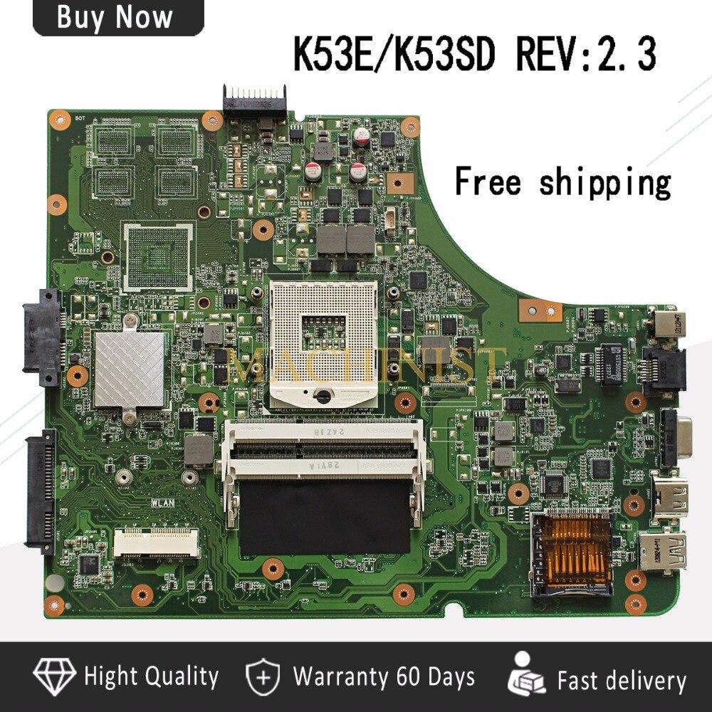 REV 2 3 K53E motherboard For Asus A53S K53S K53E A53E K53SD Laptop Motherboard REV 2
