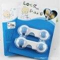 6 pçs/lote Azul Kid Criança Segurança Do Bebê Proteção Seguro Gabinete Gaveta Porta Da Geladeira Trava de Segurança Multifuncional Bloquear Produtos