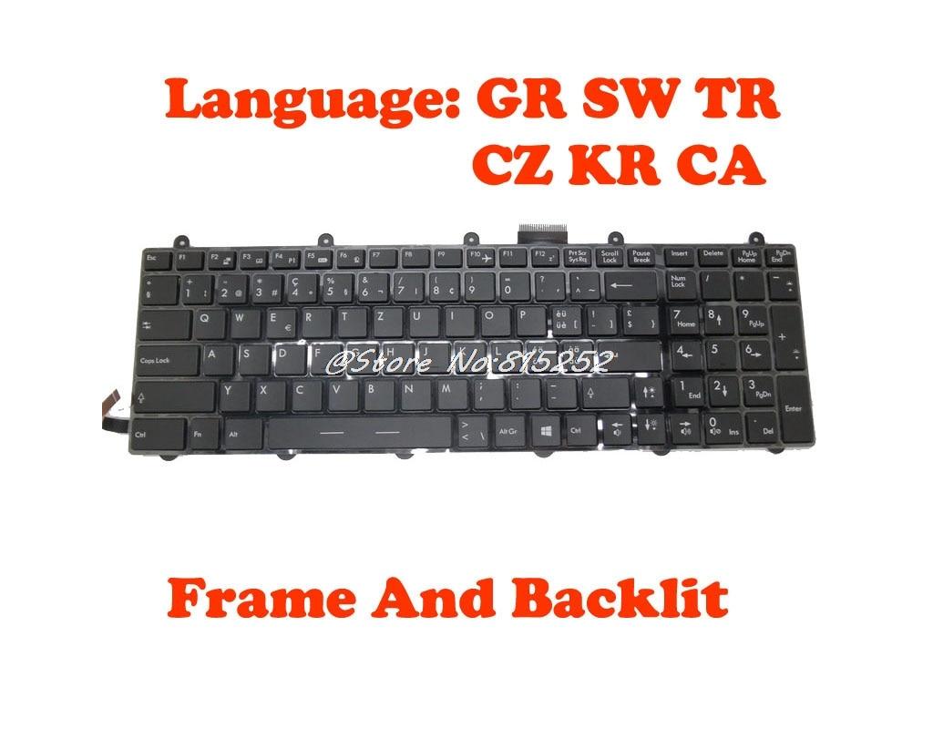 Backlit Teclado Para MSI GT60 V123322DK1 GR S1N-3EDE2F1-SA0 V123322KK1 SW S1N-3ECH2J1-SA0 S1N-3ETR2L1-SA0 V139922AK1 V123322EK1