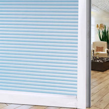 Blue imitation blinds Privacy Window Glass film Sticker Frosted Opaque Bathroom Balcony move Door decal 30/40/50/60/70/75*200cm