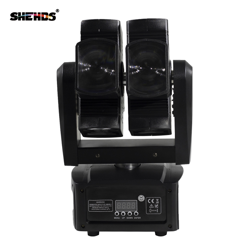 8x10W RGBW 4in1 Moving Head Beam Light For Stage DJ Party Wedding Bar Led Lamp Stage Effect Lights Double Wheel Beam Moving Head