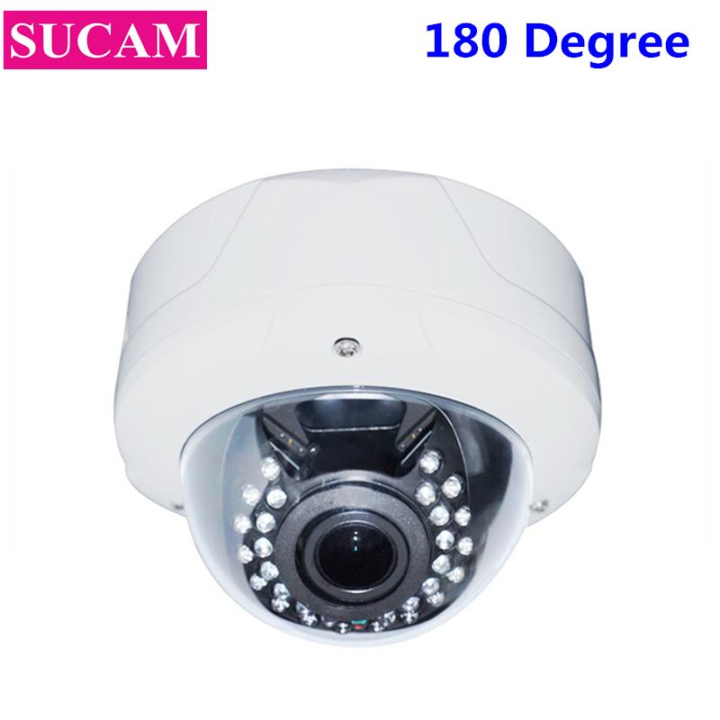 SUCAM Wide Angle Full HD 2MP AHD Security CCTV Camera 180 Degrees Fish Eye Dome Analog High Definition Camera with OSD Cable sucam wide angle 5mp ahd security camera outdoor 1 7mm 180 degrees fisheye lens night vision waterproof cctv camera with bracket