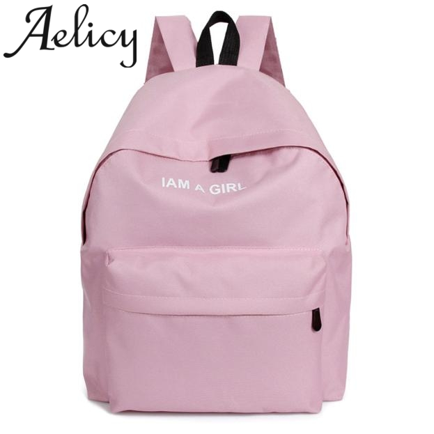 Aelicy 2019 Women Fashion Unisex Boys Girls Canvas Rucksack Backpack Shoulder Bags Student School Bag Schoolbags For Teenager
