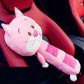 1 шт. Детские Мягкие Подушки Плюшевые Животные Кошка Автомобилей Ремней Безопасности Обложки Accesorios Asiento Кош-Розовый