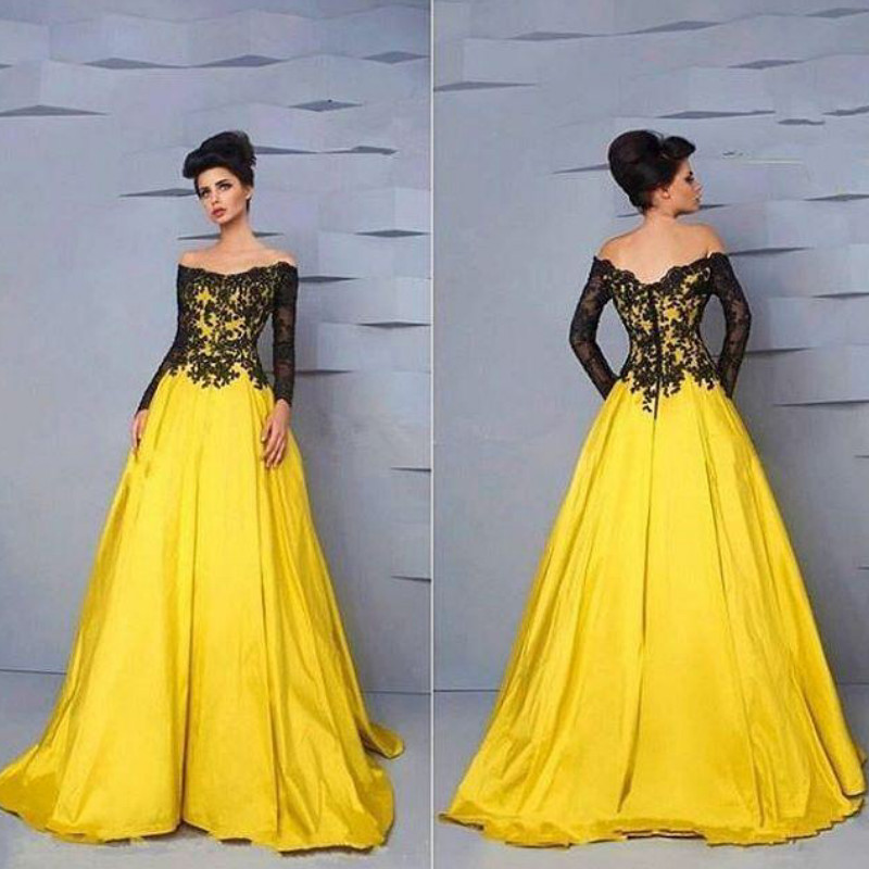 Online Get Cheap Yellow Plus Size Long Sleeve Prom Dresses ...