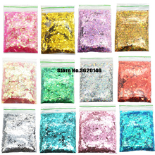 hot deal buy 50g/bag mix 1mm,2mm,3mm, nail glitter powder hexagon shape 25colors nail art powder glitters for chunky glitter powder sequins