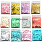 50g/bag MIX 1mm,2mm,3mm, Nail Glitter Powder Hexagon Shape 25Colors Nail Art Powder Glitters For Chunky Glitter Powder Sequins