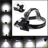 Portable 10000 Lumen Headlamp XML 3xT6 LED Headlight 4.2v Adjust Angle Bicycle Light with Battery Set for Cycling Camping
