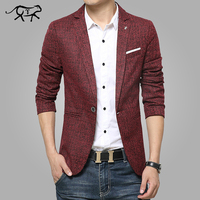 2016 New Mens Blazer Spring Fashion Suits For Men Top Quality Blazers Slim Fit Jacket Outwear