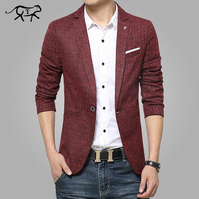 f7dd83f291f9a 2018 New Mens Blazer Spring Fashion Suits For Men Top Quality Blazers Slim  Fit Jacket Outwear Coat Homme Formal Suit Blazer Men