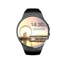 2016 neue Smart Uhr KW18 Digitale smartwatch Bluetooth Reloj Inteligente SIM Runde Pulsmesser Uhr Voll IPS Bildschirm IOS