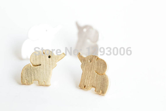 music design fashion studs for animal musical jewelry gold women plated stud note elephant silver tiny earrings cute kids earring item