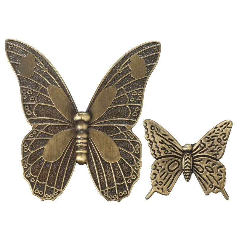 MTGATHER Zinc Alloy Vintage Bronze Butterfly Handle Cabinet Drawer Cupboard Wardrobe Doo ...