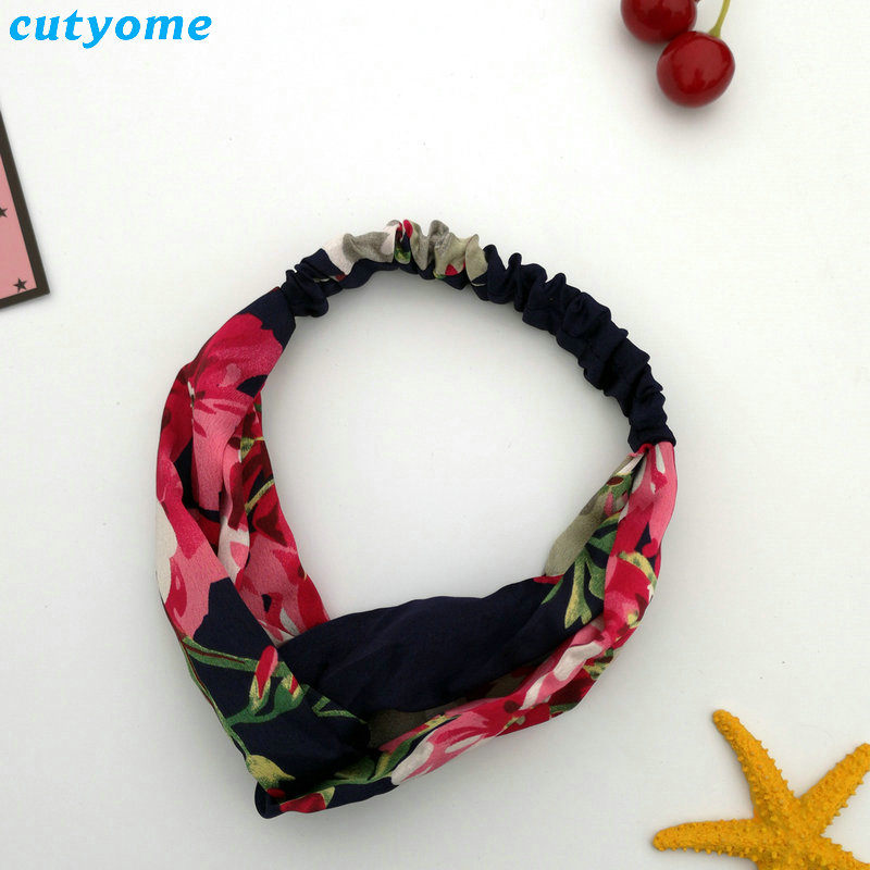 Family Mother and Daughter Floral Headband Summer Bohemia Women Girls Elastic Headwraps Family Matching Hair Accessories Set (47)