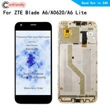 Lcd scherm Voor ZTE Blade A6/A6 Lite/A0620 Lcd scherm + Touch Screen Digitizer met frame vergadering Panel Glas Voor ZTE A6