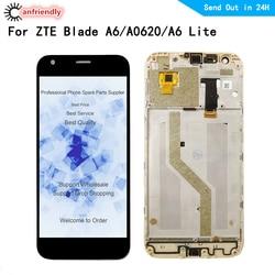 Wyświetlacz LCD ekran dla ZTE Blade A6/A6 Lite/A0620 wyświetlacz LCD + ekran dotykowy Digitizer z ramką montaż szklany Panel dla ZTE A6|Ekrany LCD do tel. komórkowych|Telefony komórkowe i telekomunikacja -
