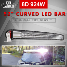 цена CO LIGHT 4-Rows 52inch Led Offroad Light Bar 8D 924W Led Bar Combo Beam Work Driving Light for Boat ATV Jeep 4x4 Tractor 12V 24V онлайн в 2017 году