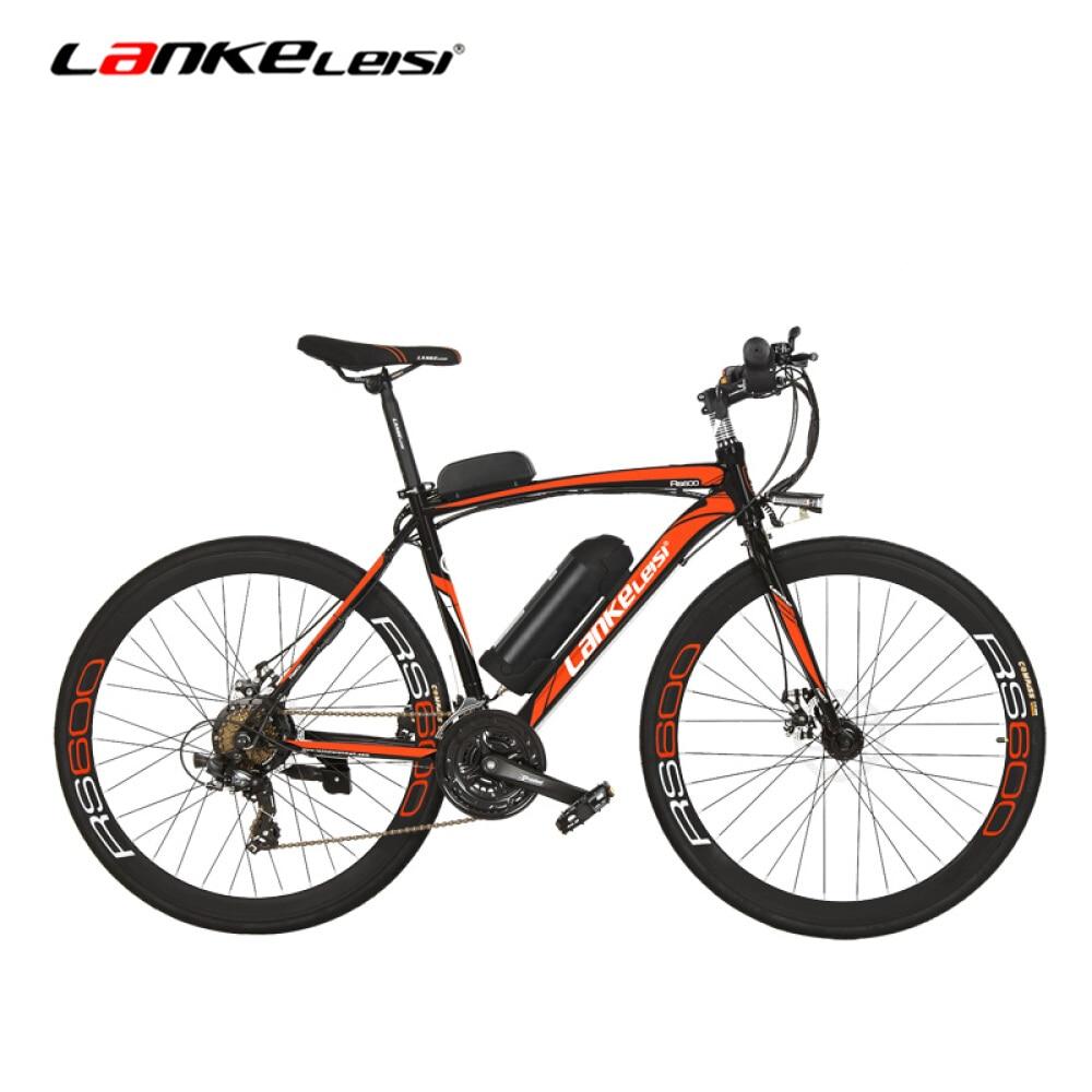 RS600 Powerflu Electric Bike, 36V 10/20Ah Battery E Bike,700C Road Bicycle, Both Disc Brake, Aluminum Alloy Frame, Mountain Bike