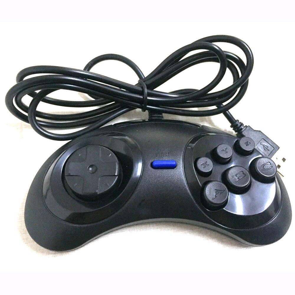 50 pcs beaucoup classique 6 boutons USB manette de jeu manette Joypad pas pour SEGA (pour sega style) pour PC