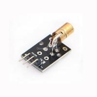 Free Shipping 10pcs/lot KY-008 650nm Laser sensor Module 6mm 5V 5mW Red Laser Dot Diode Copper Head