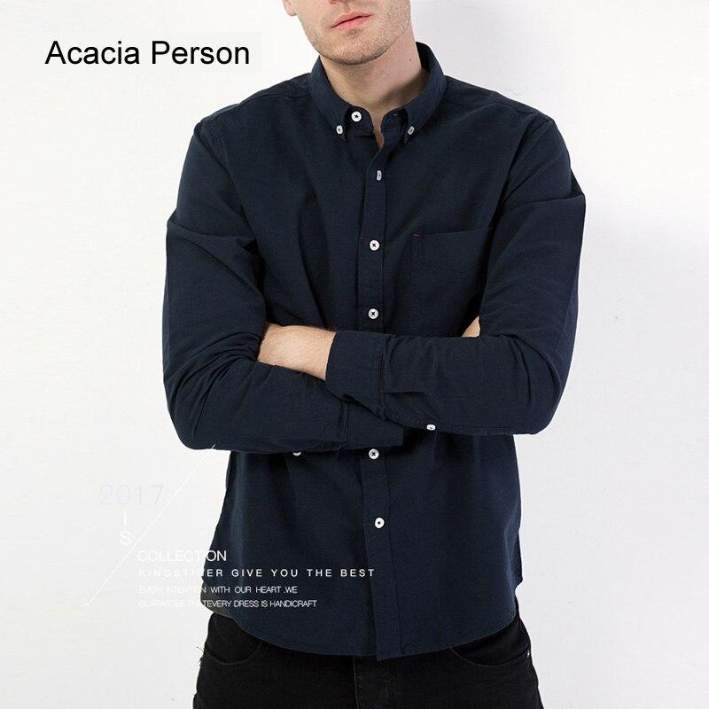 2019 Marke 100% Baumwolle Solide Striped Shirt Männer Frühling Langen ärmeln Casual Shirts Oxford Kleid Hemd Camisa Masculina Weiß Schwarz Clear-Cut-Textur