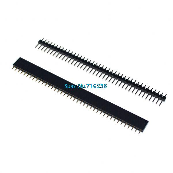 1 Lot = 20pcs 1x40 Pin 2.54mm Single Row Female + 20pcs 1x40 Male Pin Header Connector