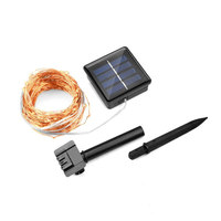 Solar Power String Light Waterproof LED Light 10M 100LEDs Copper Wire Lamp Warm White For Outdoor