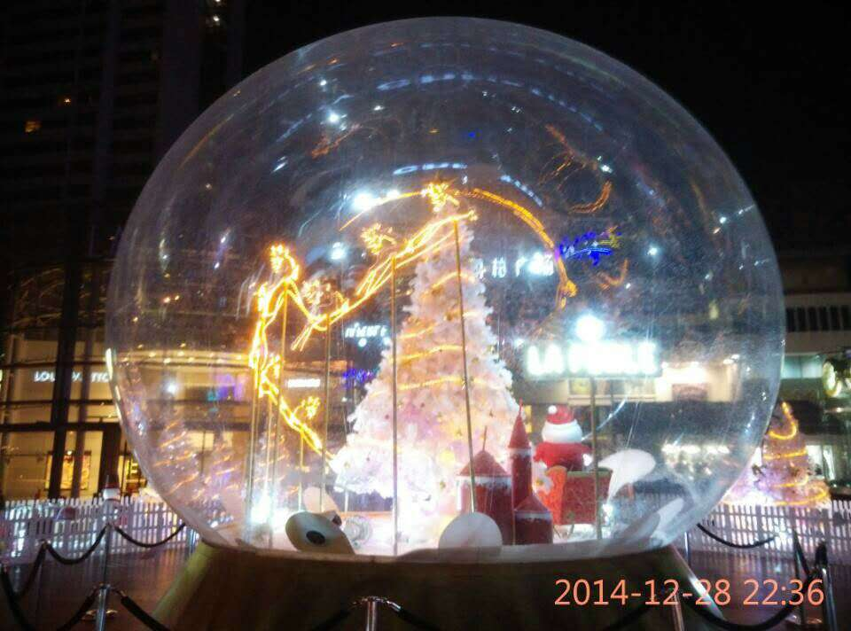 4m Inflatable Snow Globe For Christmas Decoration Advertising PVC Transparent Inflatable Christmas Ball 10pcs lot cold resistant pvc inflatable unicorn winter snow tube inflatable snow games toys snow tube toy