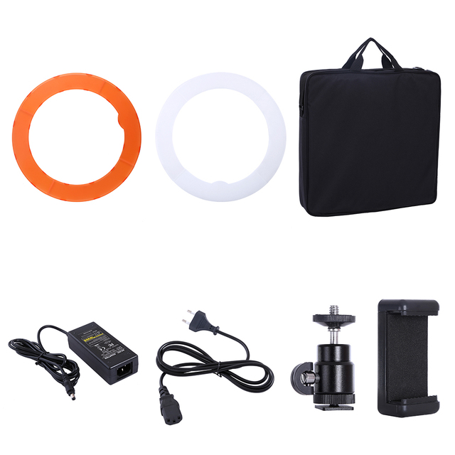 Camera Photo Studio Phone Video 18inch 55W 240PCS LED Ring Light 5500K Photography Dimmable Ring Lamp With 180CM Tripod