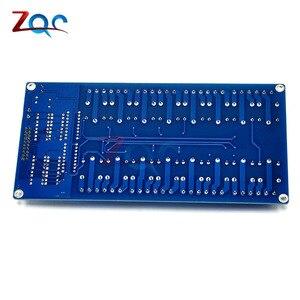 Плата интерфейса 16-канального релейного модуля постоянного тока 5 В для Arduino PIC ARM DSP ПЛК с защитой для оптронной пары LM2576 Power 16 Channel