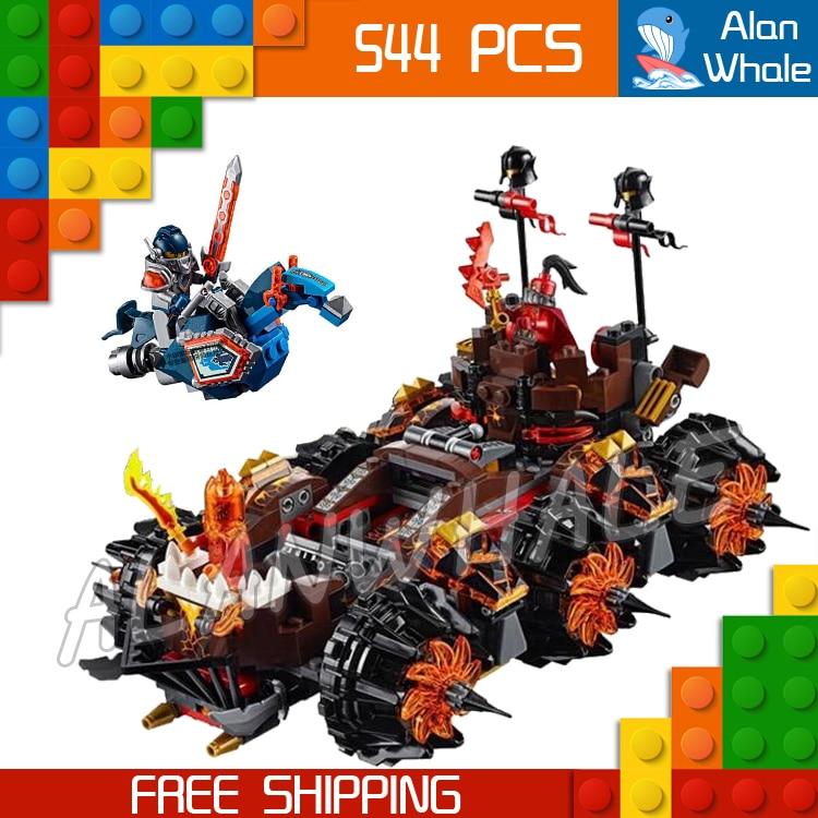 544pcs New Knights General Magmar's Siege Machine of Doom 10518 building blocks toys Nexus Compatible With Lego lepin 14018 8017 nexus knights siege machine model building kits compatible with lego city 3d blocks educational children toys