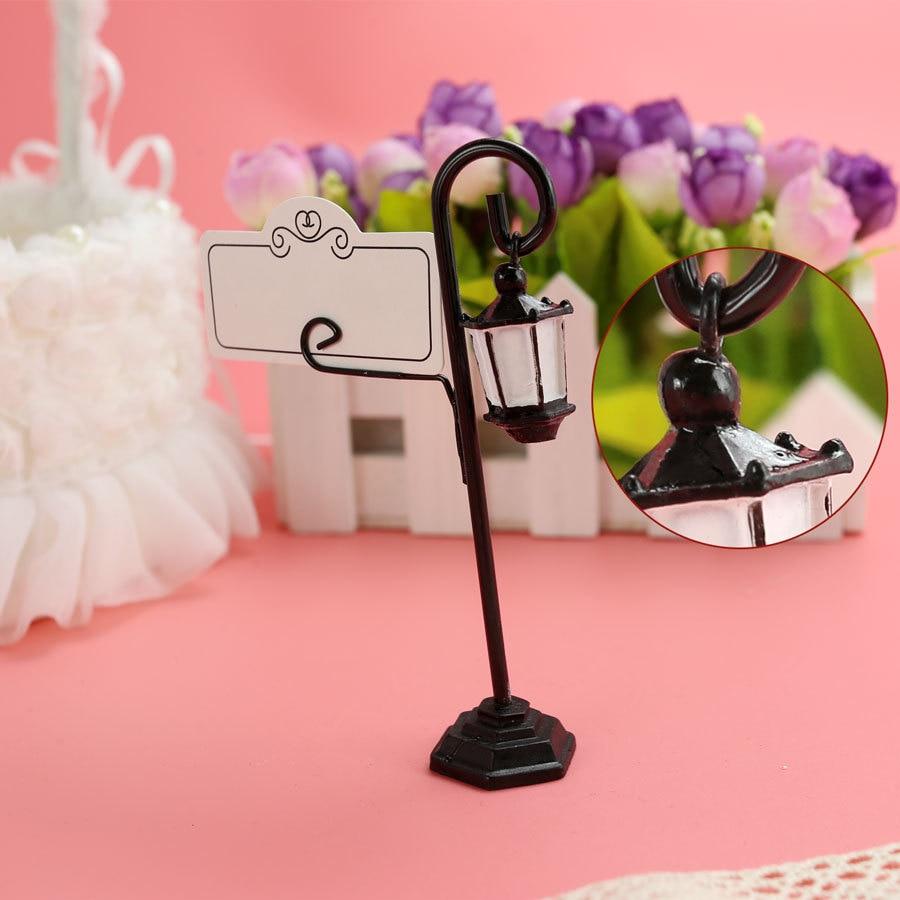 50pcs/lot Bourbon Street Streetlight Wedding Place Card Holder ...