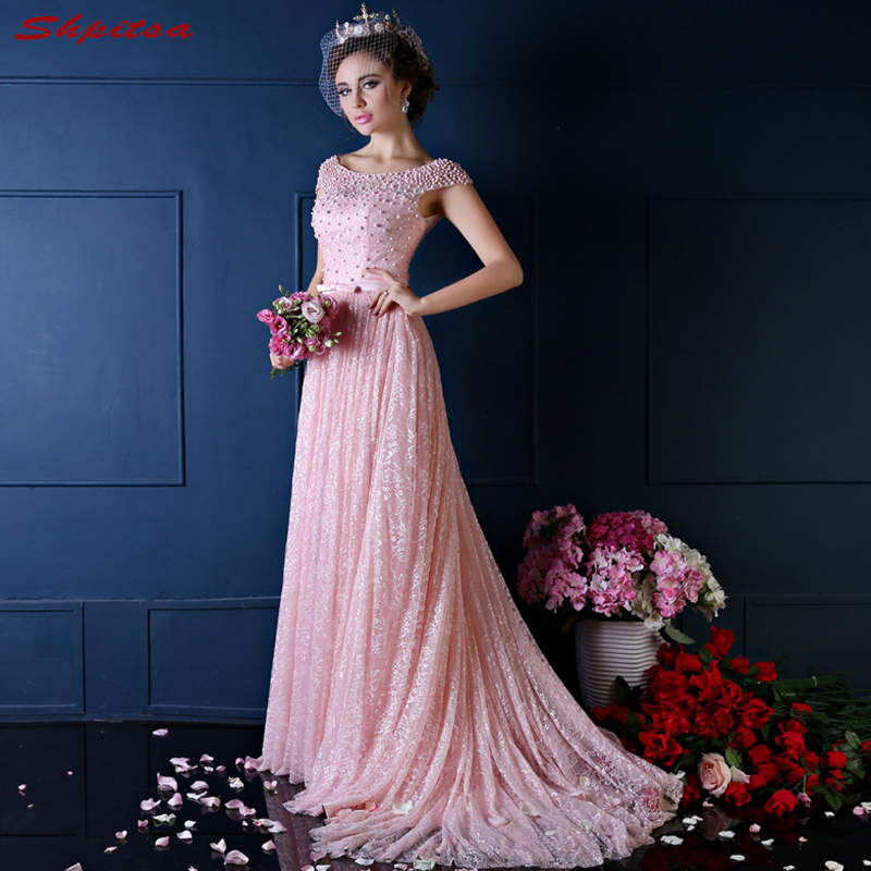 Pink Lace Mother Of The Bride Dresses For Weddings Prom Evening Groom Godmother Dresses