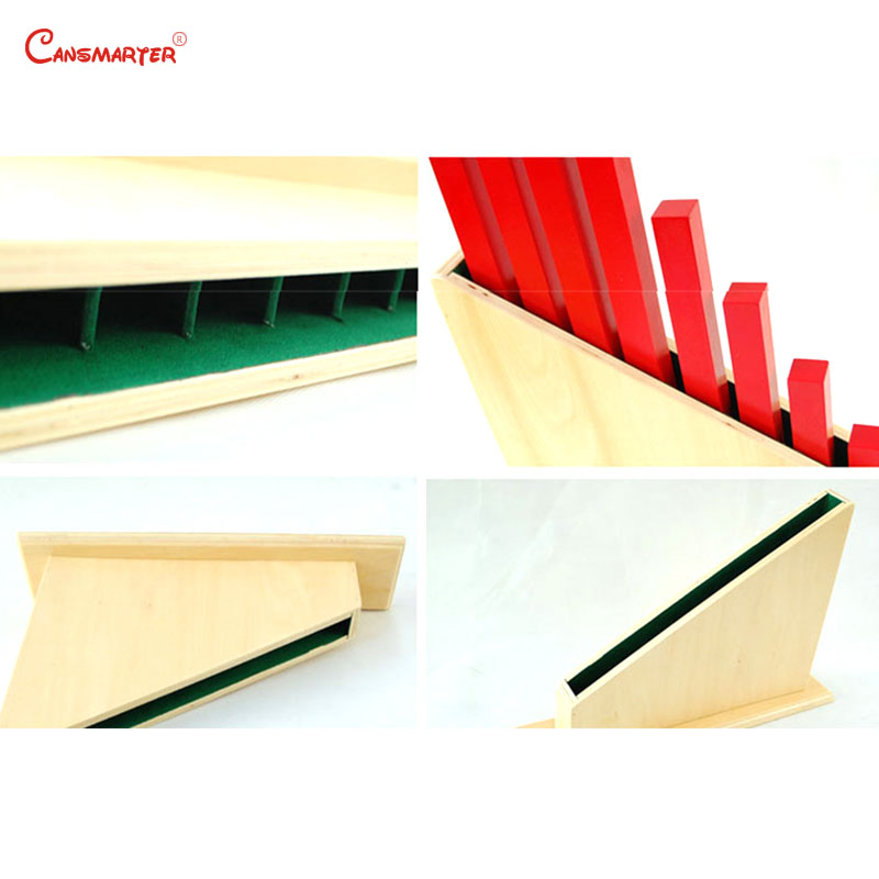 Maths Red Rods Stand Wooden Teaching Toys Numerical Rods Montessori Materials Counting Stick Hold for Children Preschool SE013 3 in Math Toys from Toys Hobbies