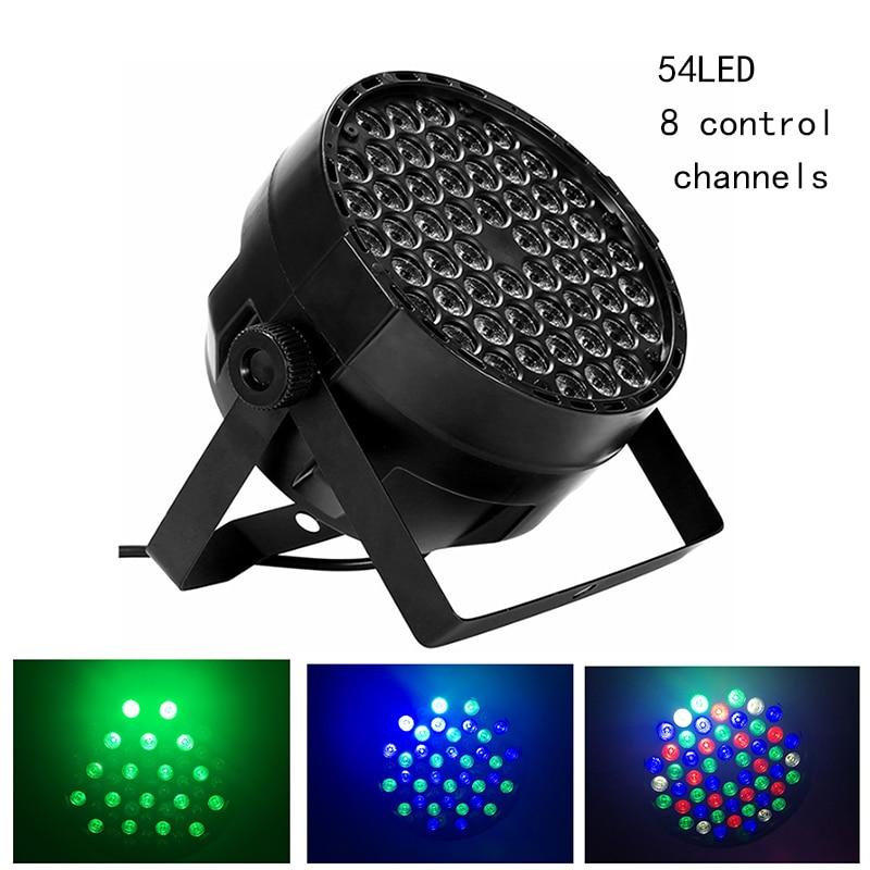 MIFXIN Stage Light 8 Mode RGB 54 LED Par Light dmx decoration lamp Led PAR lamp /background stain light outdoor Party DJ Disco цена