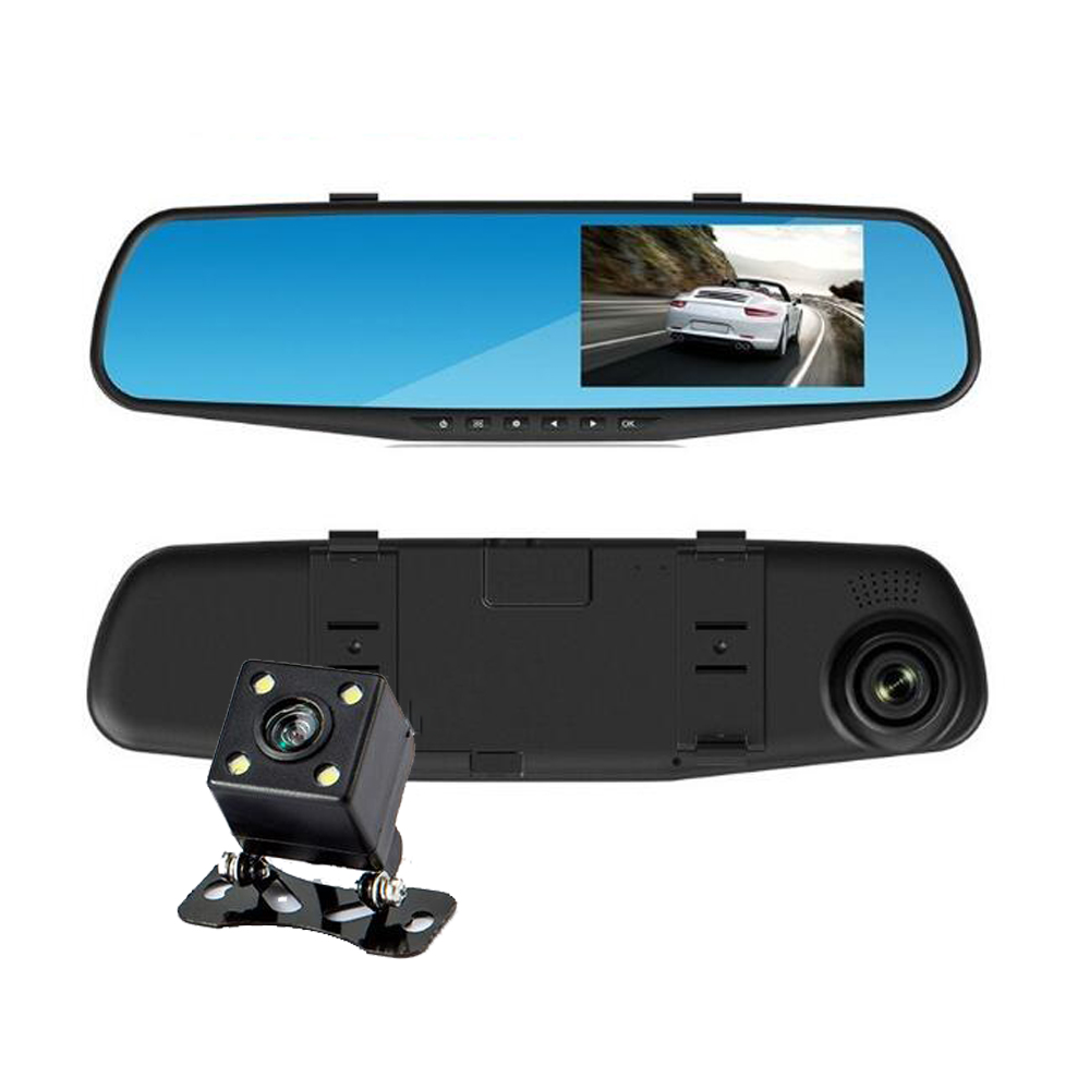 Car Camera Rearview Mirror Car Dvr Dual Lens Dash Cam Recorder Video Registrator Camcorder FHD 1080p Night Vision DVRs 1pcs car rearview mirror dvr driving video recorder mount holder for xiaomi yi dash cam registrator bracket for yi camera dvrs