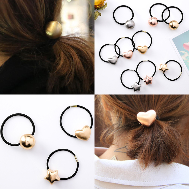 Girl's Accessories New Popular Korean Style Women Cute Hair Accessories Velvet Heart/star/ball Hair Rope Rubber Band Headwear For Girls