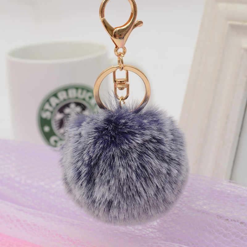 1 шт., модный помпон пушистый брелок, Искусственный Кролик, мех, шар, брелок, женская сумка, автомобильный кулон, брелок, красивые украшения