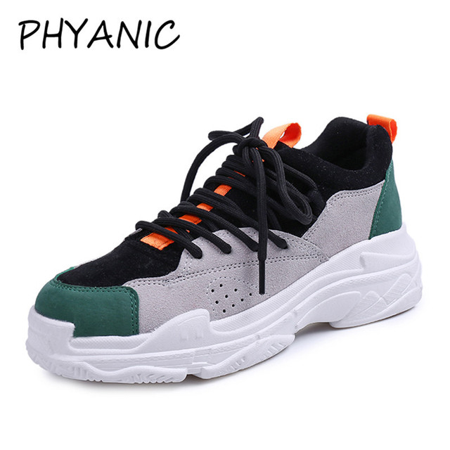 216bc9569ba6 PHYANIC 2018 New Spring Women Canvas Shoes Vulcanized Shoes Female Sneakers  Mixed Colors Black Red Lace Up Casual Shoes CJF3272