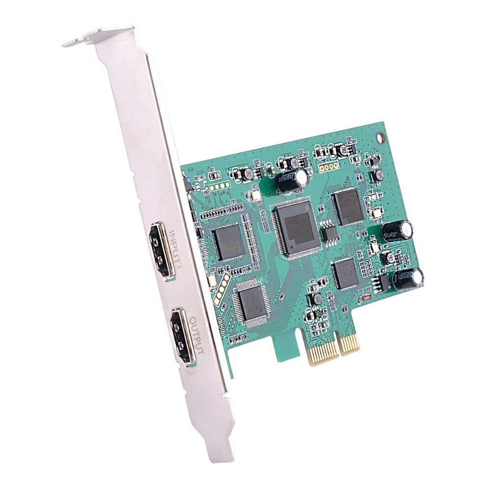 Meilleures Offres PCI Express Port HDMI Jeu Carte de Capture HD60 1080 p Live Streaming Dispositif pour Nintendo Commutateur PS4 Xbox un 360 Wii U