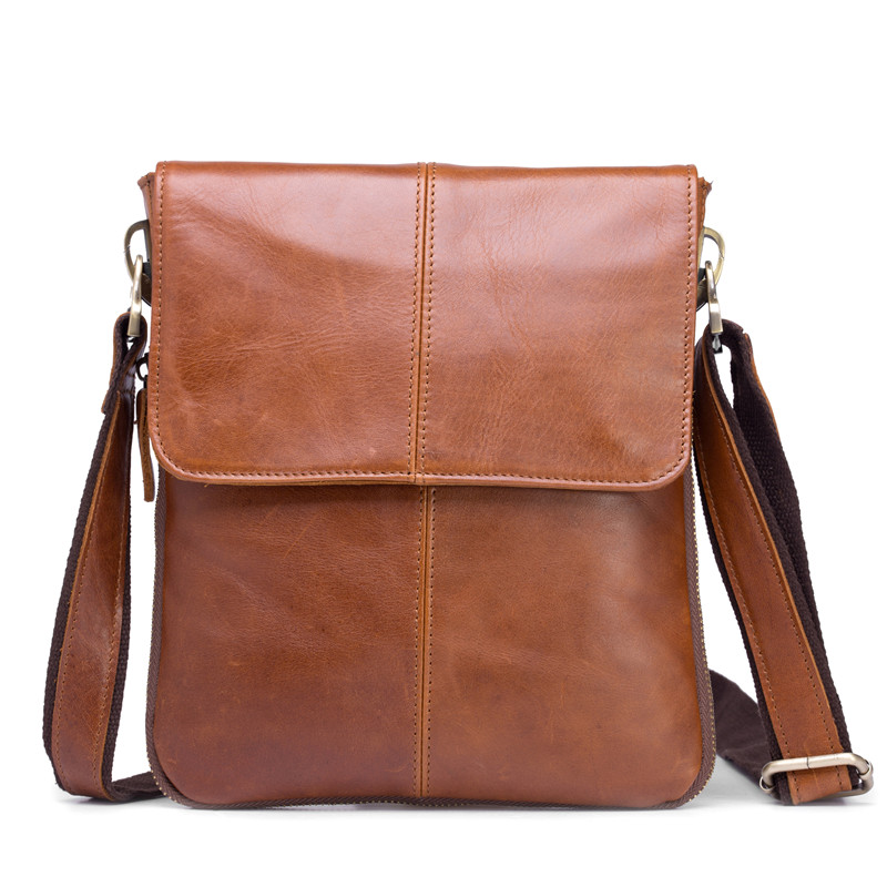 Genuine Cowhide Leather Men's Bag Man Crossbody Shoulder Bag Men Small Business Bags Male Messenger Leather Bags Coffee B579 men and women bag genuine leather man crossbody shoulder handbag men business bags male messenger leather satchel for boys
