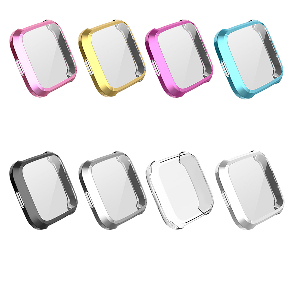 Protective Cover Watch Screen Protector TPU Silicone Protective Clear Case Cover Shell for Fitbit Versa Lite