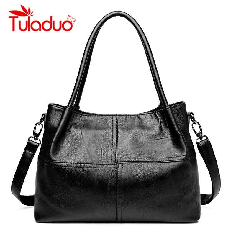 d3610e7e5089 Tuladuo роскошные сумки женские сумки дизайнерские кожаные женские сшитые сумки  Большие женские сумки через плечо топ