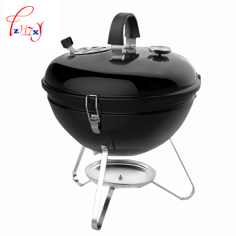 CF-E112007 Portable Thick Grill Unique Grilled Stew Charcoal Barbecue Grills outdoor Field BBQ full set of home grill 1pc