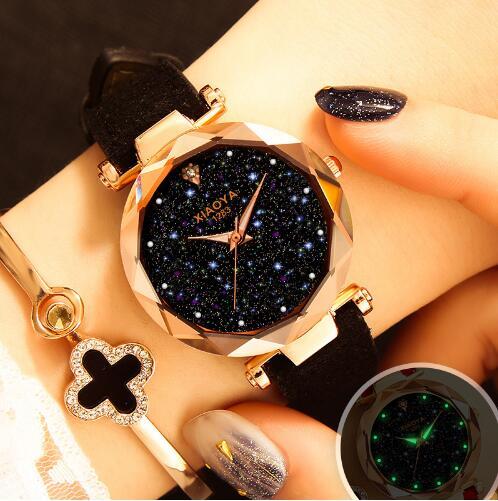 Relojes Mujer 2019 Luxury Brand Gogoey Women Watches Personality Romantic Starry Sky Wrist Watch Rhinestone Design Ladies Clock
