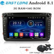 8Qusd Core Android 8.1 Car DVD GPS Radio for VW PASSAT CC Golf Tiguan Touran Polo EOS SEAT Altea Leon Skoda Fabia Patrick Car