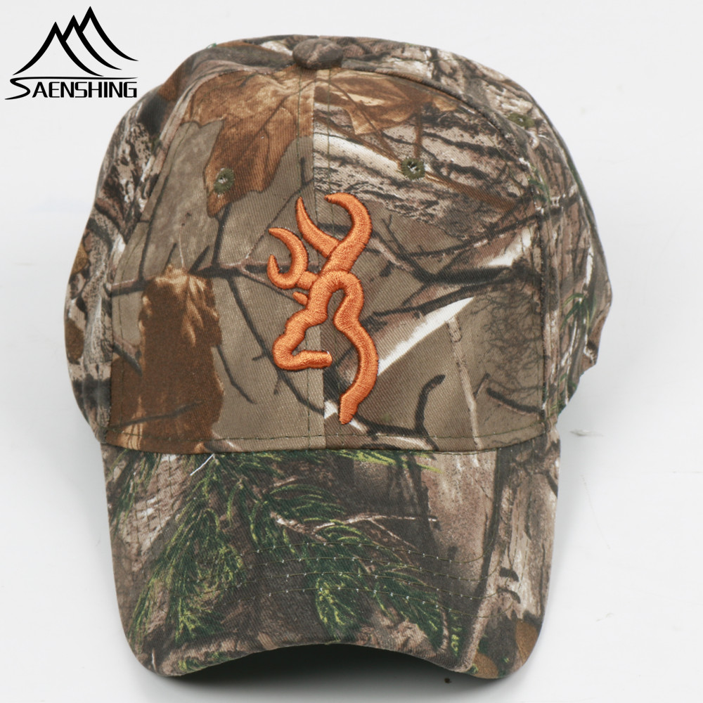 SAENSHING Browning Camouflage Cap Cotton Breathable Military Cap Tactical Baseball Caps Outdoor Brand Hat Fishing Hunting Caps