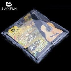 Лидер продаж! Высокое качество SC12 Классическая гитара шесть струн нейлон серебрение набор супер светильник Акустическая гитара музыкальны...